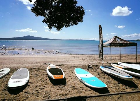 Summer start Stand up paddleboarding SUP Auckland